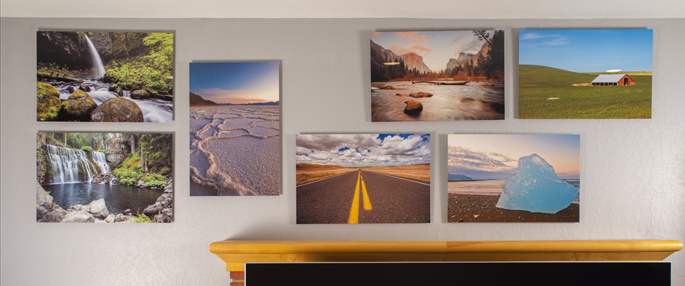 A wall display of John A. Vink images.