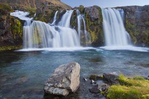 A waterfall near Grundarfjarðarbær, Western Iceland