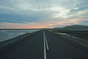 Iceland Road at Sunset