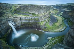 Long exposure of Palouse Falls State Park near Washtucna, Washington