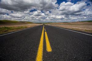 A road in the Palouse region of Washington