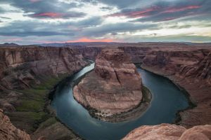 Horseshoe Bend near the Grand Canyon in Page, Arizona