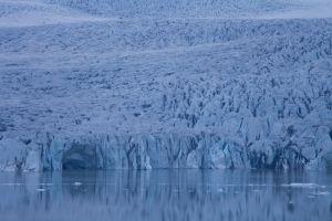 Glacier in Iceland near Sveitarfélagið Hornafjörður, East Iceland