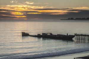 The S. S. Palo Alto at Seacliff State Beach