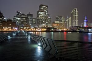 Pier 14 in San Francisco at Night