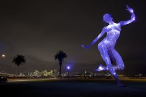 The Bliss Dance statue on Treasure Island in the San Francisco Bay