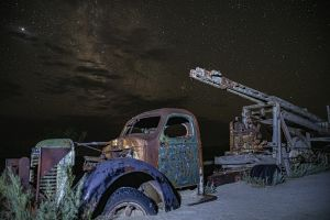 Abandoned Truck under the Stars