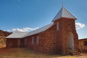 Abandoned church in Cuervo, New Mexico