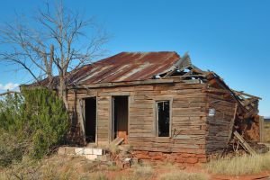 Abandoned house in Cuervo, New Mexico